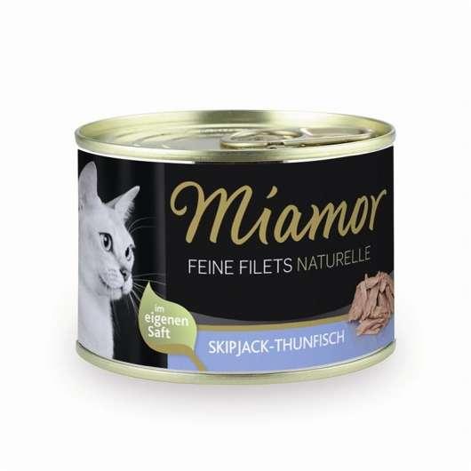 Miamor Feine Filets Naturelle Skipjack-Thunfisch 156g Dose