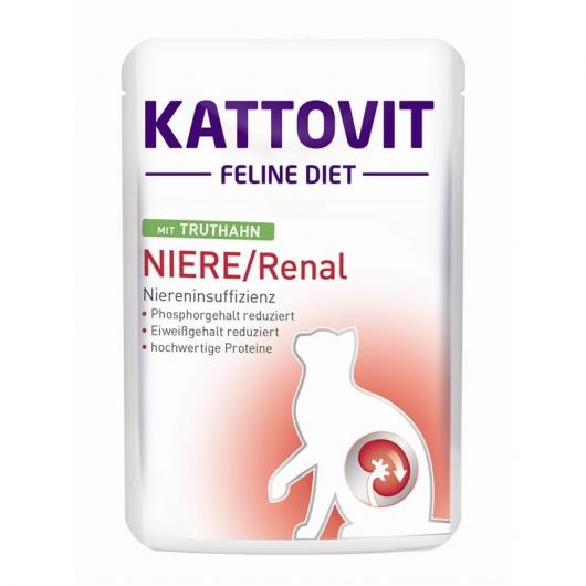 Kattovit Feline Diet Niere/Renal mit Truthahn 85g