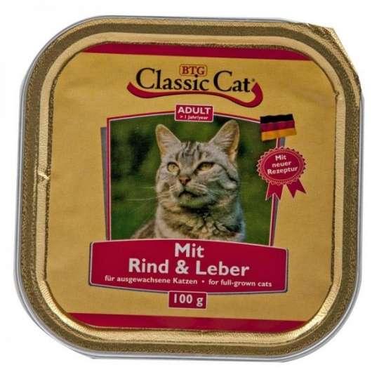 Classic Cat Schale Rind & Leber 100g