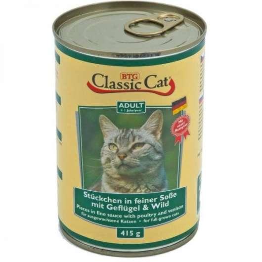 Classic Cat Dose Soße mit Geflügel & Wild 415g