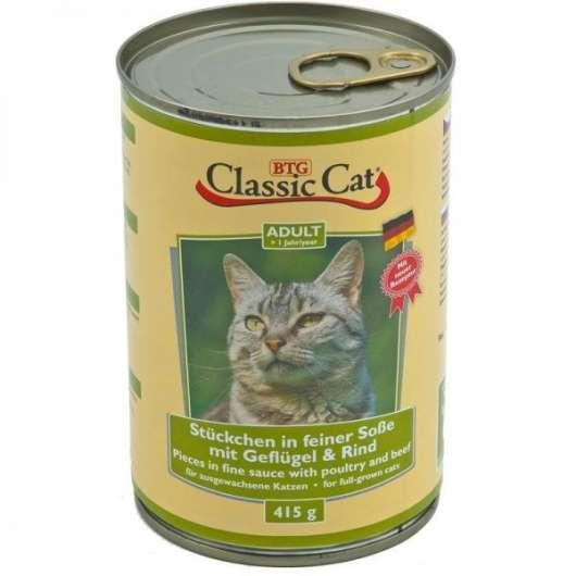 Classic Cat Dose Soße mit Geflügel & Rind 415g